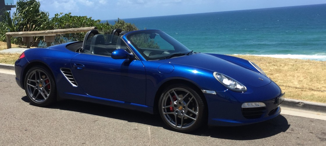 Porsche Boxster S at Sunshine Beach for Hire Rental Noosa Heads Sunshine Coast Queensland Australia