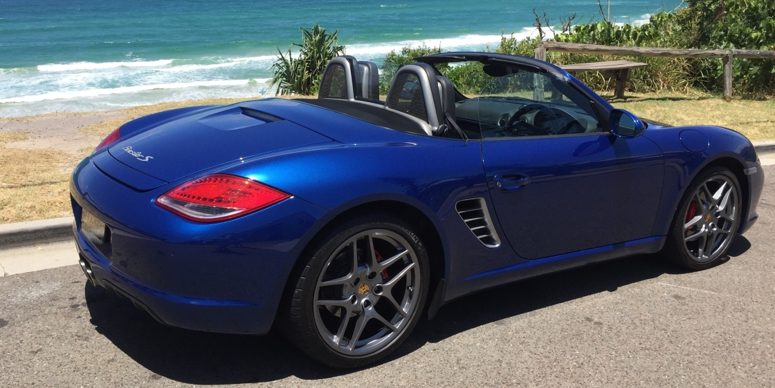 Porsche Boxster S Hire Car at Sunrise Beach Noosa Heads Sunshine Coast