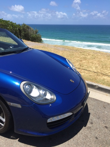 Porsche Boxster S Convertible @ Sunshine Beach near Noosa Heads from Noosa Sports Car Hire on the Sunshine Coast Queensland Australia