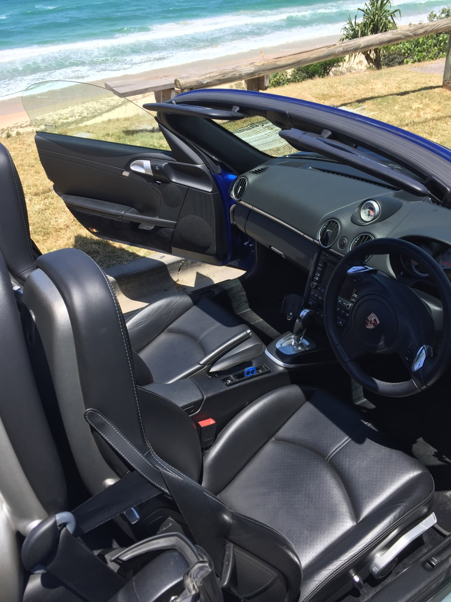 Porsche Boxster S Hire Rental Noosa Sunshine Coast Interior