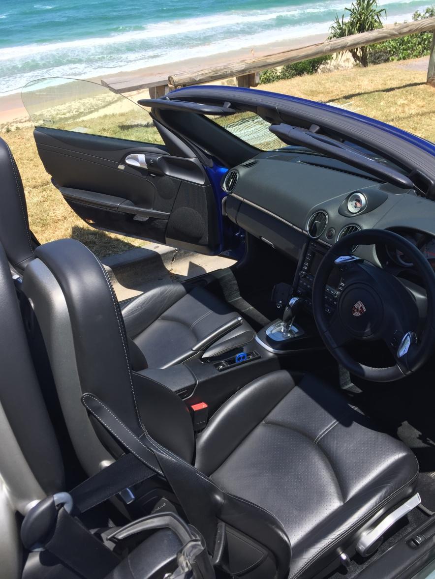 Porsche Boxster S Hire Rental Noosa Sunshine Coast Interior